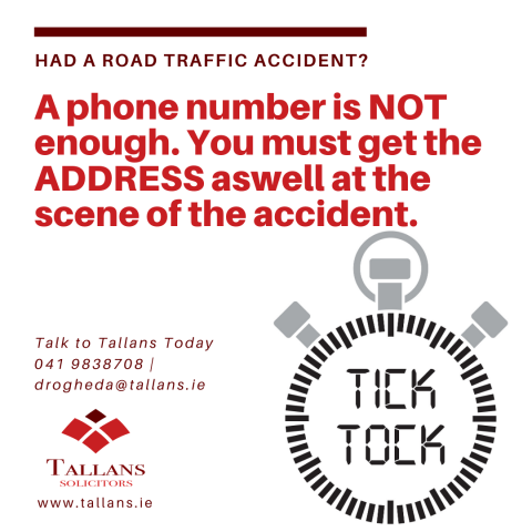 You MUST get the address of the other person - Talk to Tallans Today
